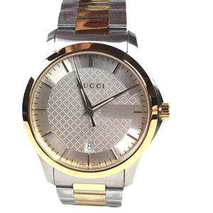 Gucci Gold Steel Mens Watch NWT